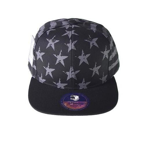 Striped and Star Printed Snapback - EZGetOne