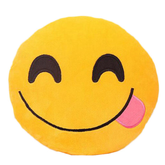 Smiley Face Pillow Stuffed Toy Soft Plush 32cmx32cm Best Sell - EZGetOne
