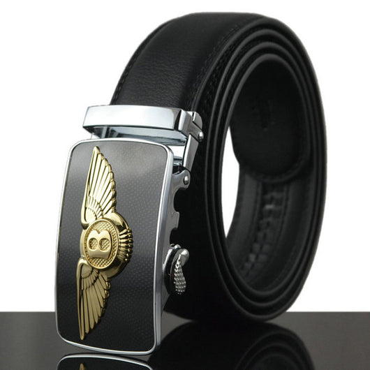 Luxury Cowhide Brand Genuine Leather Automatic Buckle Belts for Mens High Quality Male - EZGetOne