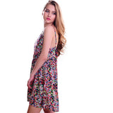 Women Casual Bohemian Floral Sleeveless Vest Printed Beach Chiffon Dress - EZGetOne