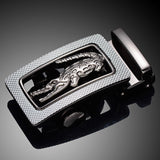 2017 Cowskin Leatherette Men Belt crocodile LOGO Automatic buckle Boby width 3.5CM business Designers high quality luxury Brand - EZGetOne
