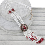2017 New Vintage Jewelry Turkish Ruby Necklaces For Women Antique Gold Plated Crystal - EZGetOne