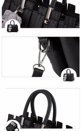 Women PU Leather Handbags Fashion Shoulder Bags - EZGetOne