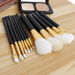 12 pcs Makeup Brushes Professional Eyebrow Foundation Powder Lipsticks - EZGetOne