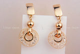 Luxury 18k Rose Gold Drop Earrings Champagne Wire Zircon Crystal Female Fashion Jewelry - EZGetOne