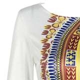African Dresses For Women Bazin Rich Sheath Printing Women Summer Dress Vetement Femme Africain - EZGetOne