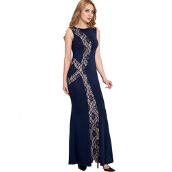 High quality floor-length solid maxi dress new summer plus size sexy dress - EZGetOne