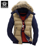 Hooded Design Men Parka Size M-4XL Casual & Fit Men's Winter Jacket Stand Collar Thick Man Down Jacket - EZGetOne