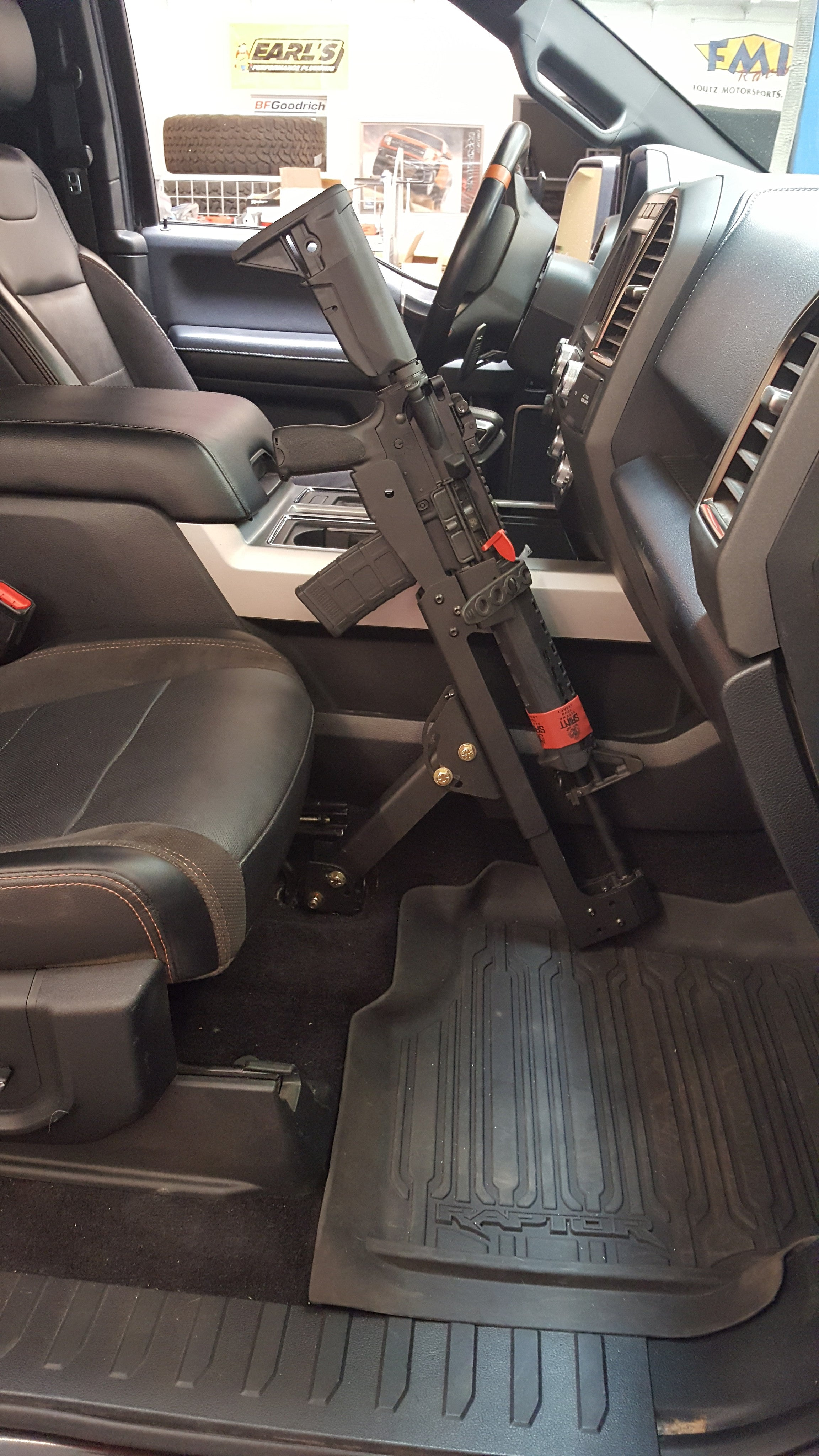 Ford F150 Rack >> Ford Truck Universal Front Seat mount kit for AR Rifle carrier - GunMount