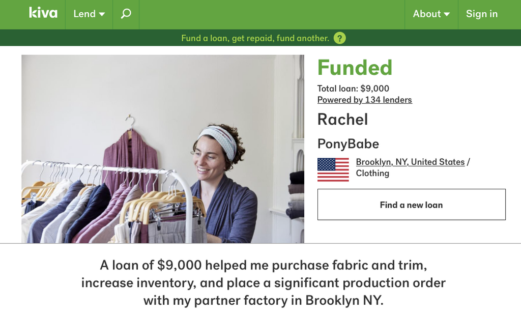 Growing Through Crowdfunding: PonyBabe's Kiva Loan is Complete!