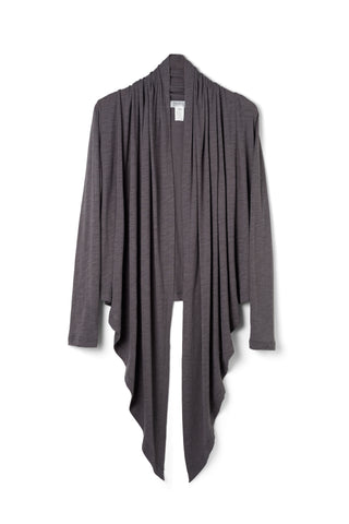 Blue Gray Super Soft Organic Cotton Eco Friendly Cardigan Made in the USA