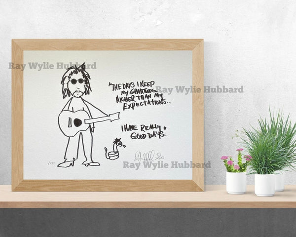 Limited Edition Art Print by Ray Wylie
