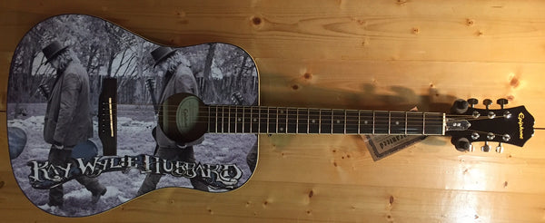 Limited Edition Custom Epiphone Guitar signed by Ray Wylie Hubbard