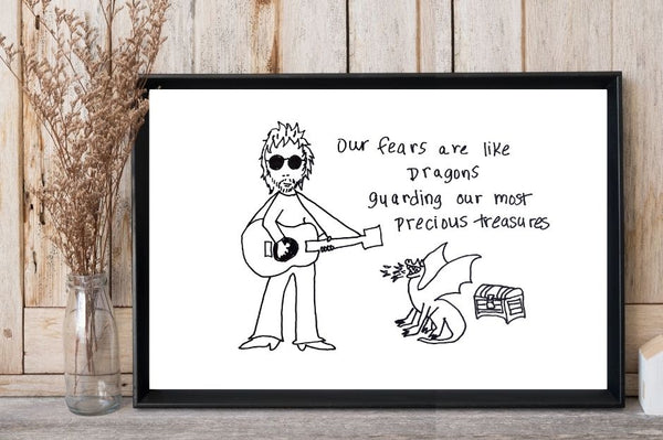Limited Edition Messenger Art Print by Ray Wylie