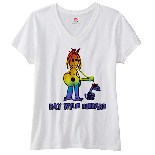 Ladies Ombre Ray White T-shirt