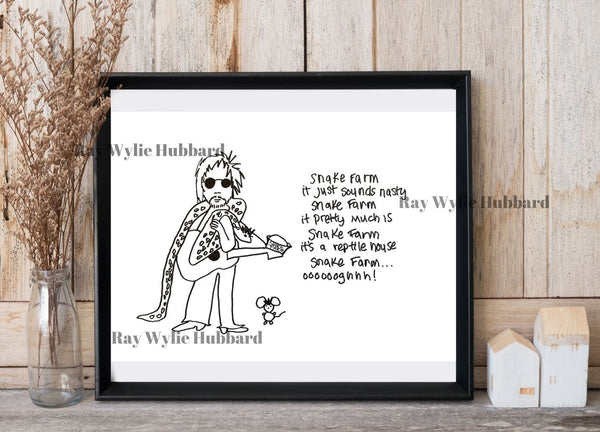 Snake Farm Limited Edition Art Print by Ray Wylie