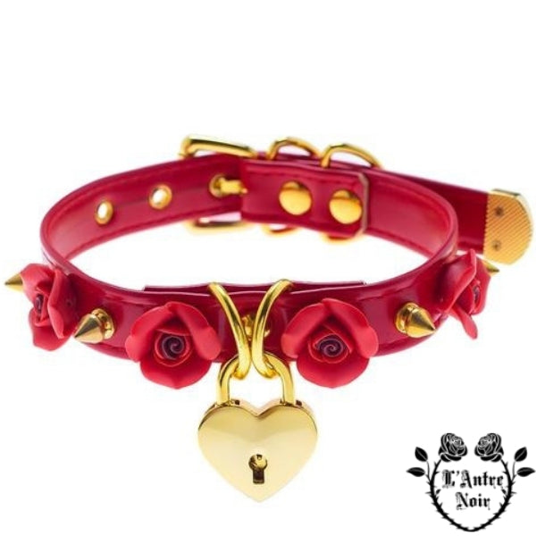 collier gothique rouge