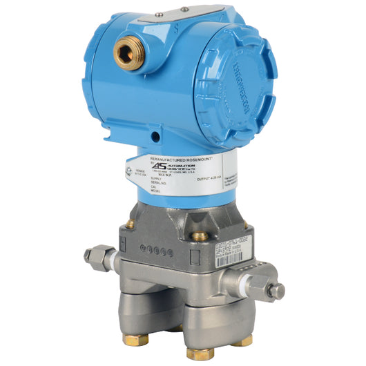Remanufactured Rosemount¨ 3051CD Coplanar Differential Pressure Transmitter - Remanufactured, Pressure range: -250 to 250 in H2O Completely remanufactured unit. Full 2-year service warranty from date of installation. - 3051CD2A22A1AB4M5E5T1 - Buy Kunkle valves online