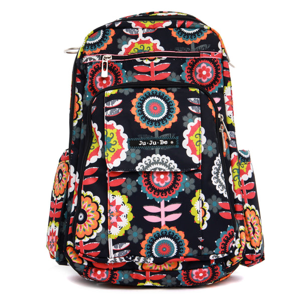 Ju-Ju-Be Be Right Back changing backpack Dancing Dahlias