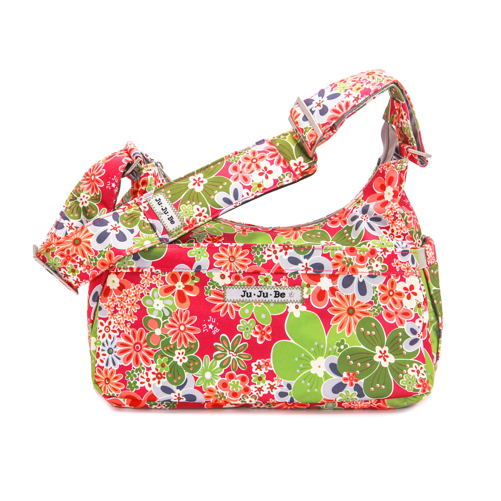 Ju-Ju-Be HoboBe diaper bag in Perky Perennials