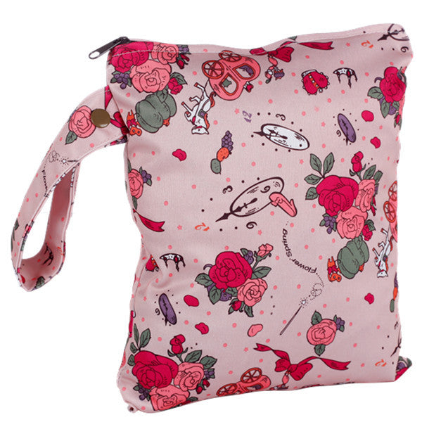 J & B Stay Dry Midi wet bag - Pink Roses