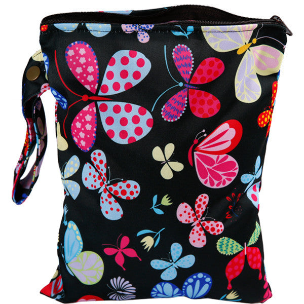 J & B Stay Dry Midi wet bag - Nocturnal Butterflies