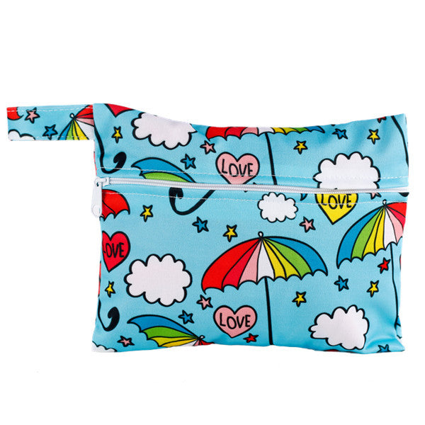 J & B Stay Dry Mini wet bag - Rainbow Love