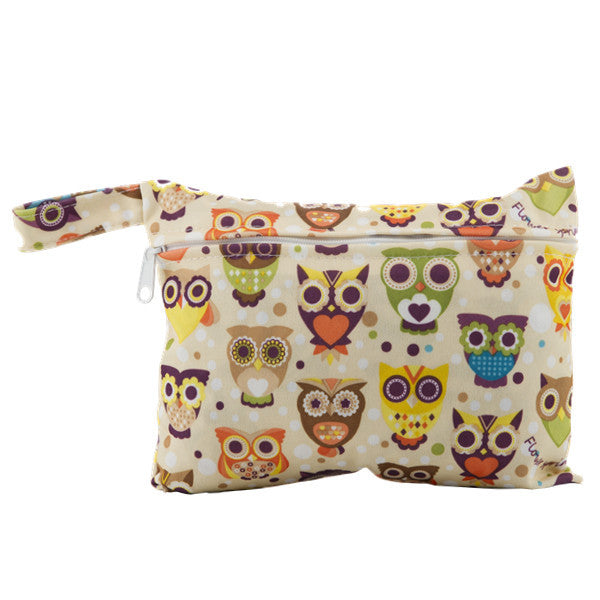 J & B Stay Dry Mini wet bag - Owly Owls