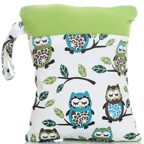 J & B Stay Dry Midi Plus wet bag - Sleeping Owls