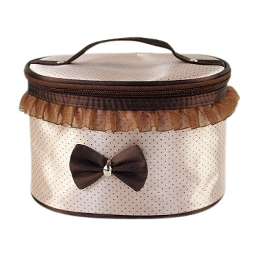 J & Stay Ready Classic cosmetic case - Caramel Pecan