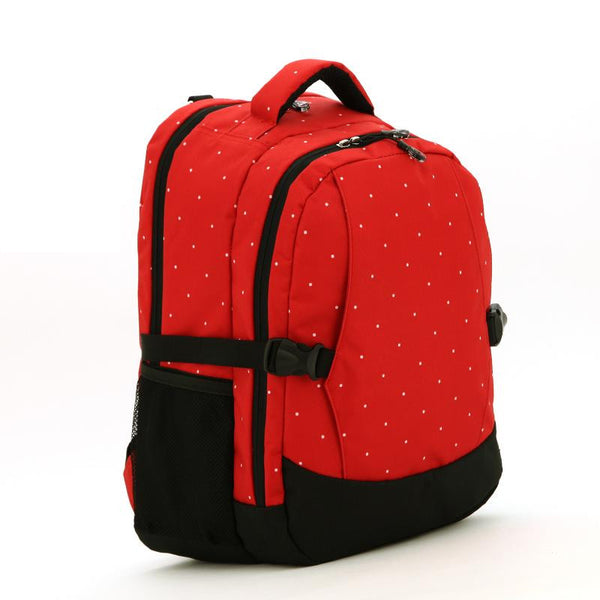 J & B Stay Moving Classic diaper backpack - Red Velvet