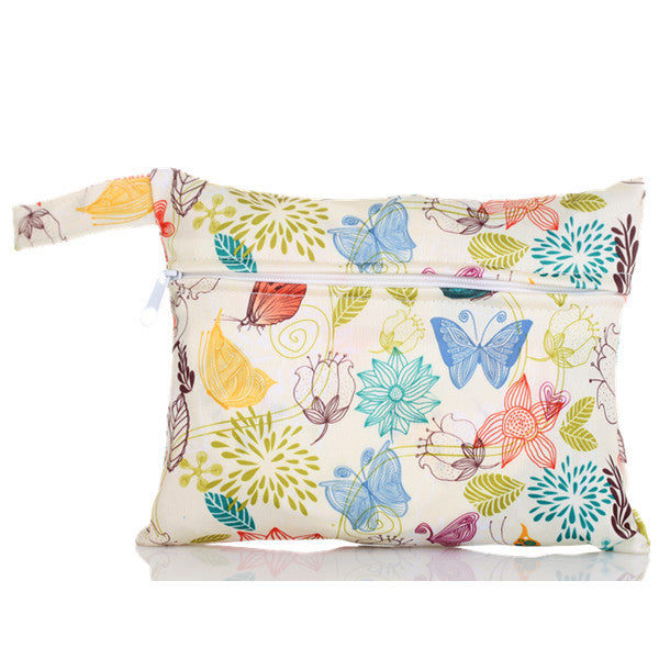 J & B Stay Dry Mini wet bag - Flower Garden