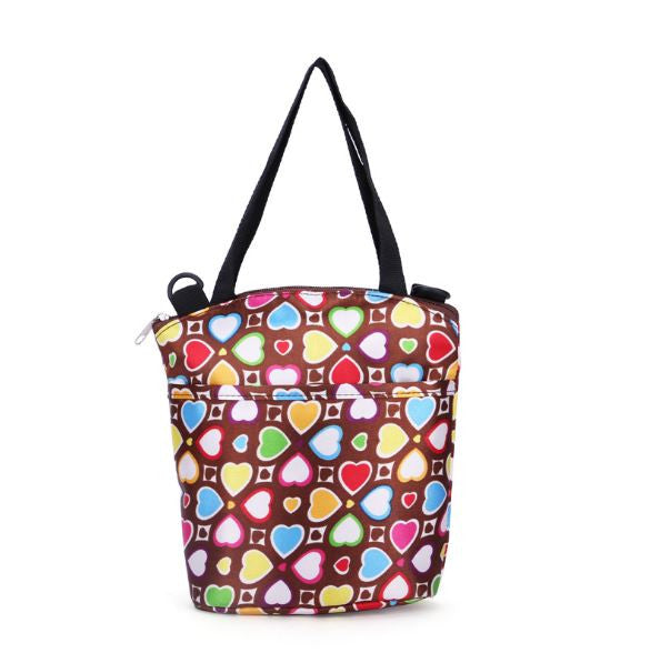 J & B Stay Cool cooler / lunch bag - Autumn Hearts