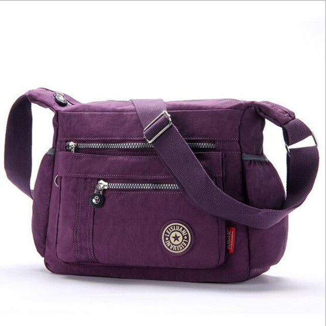 L & L Bags Everyday Messenger Deep Purple