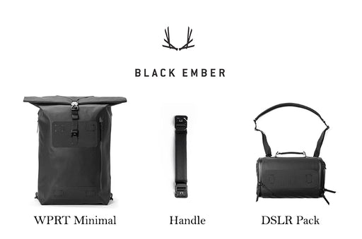 Black Ember - The Water Proof Roll Top 30L ( WPRT) ** Minimalist ** Package A