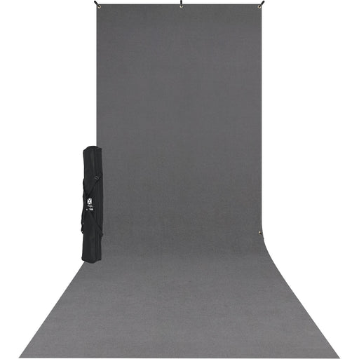 X-Drop Wrinkle-Resistant Backdrop Kit Set (5' x 12') (Grey / Black / White / Green )