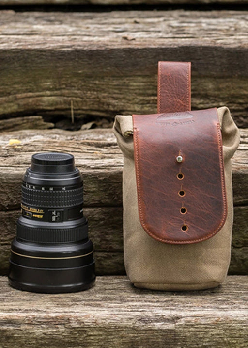 ##Pre-Order Only## Sightseer Lens Pouch  ( Olive ) ( Medium )