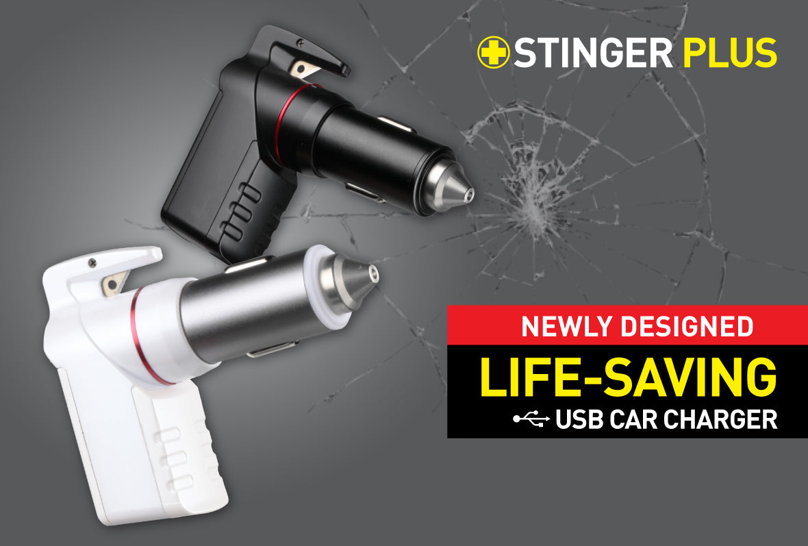 ZTYLUS STINGER USB EMERGENCY TOOL (Dual USB Charger / Seat Belt Cutter / Glass Breaker  )
