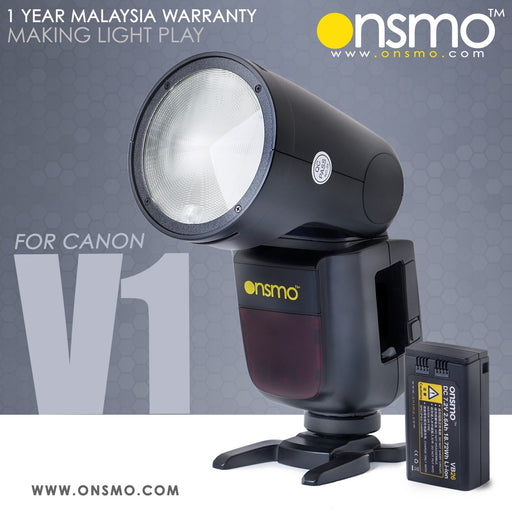 Onsmo V1S Li-ion Round Head Camera Flash (made by GODOX for ONSMO)