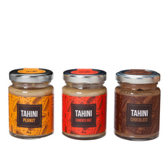 3 x Israeli Sweet Tahini Paste - Peanut, Chocolate, Candied Nut