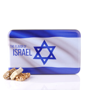 Israeli Flag Nut Bars Box