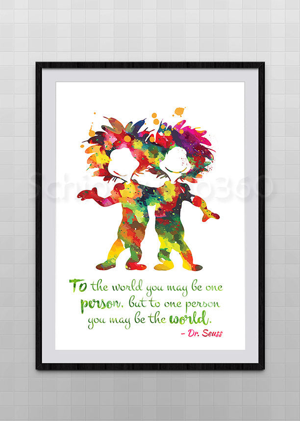 Dr. Seuss Watercolor Art Print  Dr.Seuss Quote Poster   Home Decor Wall  Hanging Baby Shower Gift Kidu0027s Room Decor Nursery Art