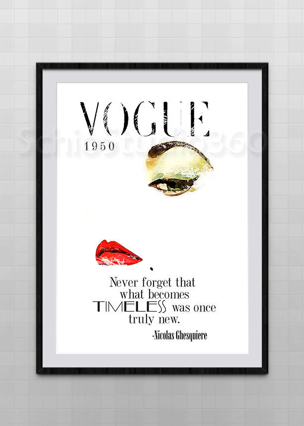 Vogue Poster Inspired From Vogue Vintage Edition Digital Painting Pri Schiostudio360