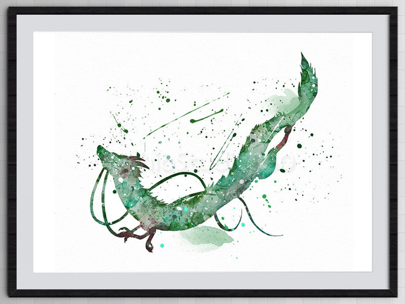 Set Of 3 Spirited Away Poster Chihiro And No Face Sprites Dragon H Schiostudio360