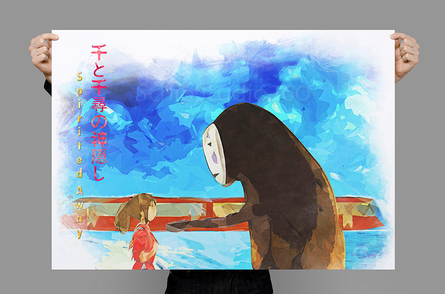 Spirited Away Chihiro And No Face Inspired Poster From Hayao Miyaz Schiostudio360