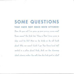Some Questions Card