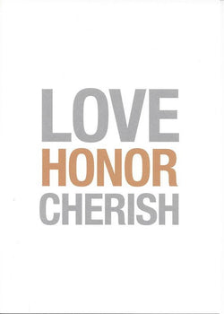Love Honor Cherish Card