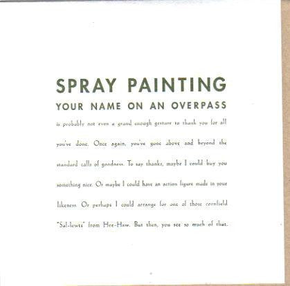 Spray Painting Card
