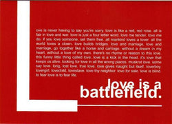 Love is a Battlefield Card