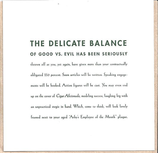 The Delicate Balance Card